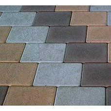 Тротуарная плитка Брук целый цвет серая