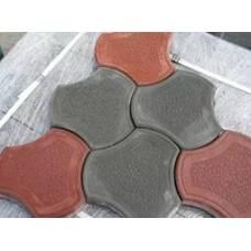 Тротуарная плитка Рокки цвет серая